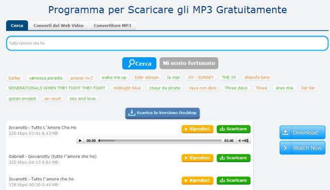 file per scaricare musica mp3 gratis