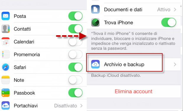 copiare rubrica sim su iphone 6s
