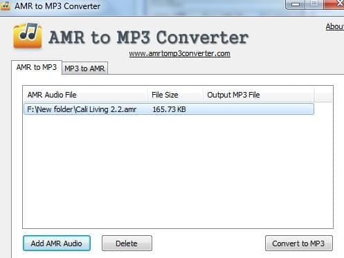 convertitore AMR in MP3