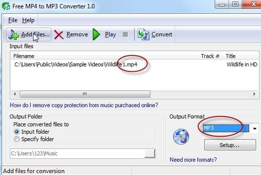 free-mp4-to-mp3-converter-interface
